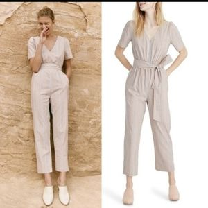 Madewell Puff Sleeve Tapered Jumpsuit size 2